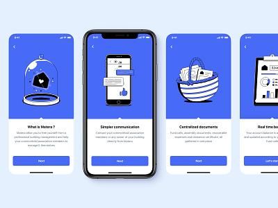 Matera App Onboarding 👋 ux figma design blue ios illustration ui onboarding app mobile