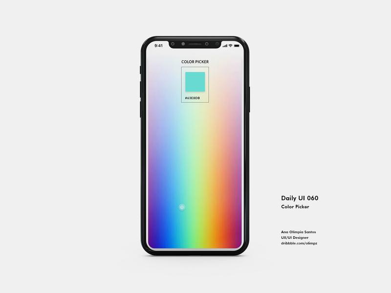 Color Picker #060 DailyUi Challenge dailyui60 picker color ui design dailyuichallenge xd gradient dailyui appdesign app uidesign interfacedesign