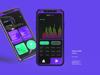 Statistics #066 DailyUi Challenge app design running fitness chats statistics dailyui066 ui design dailyuichallenge xd gradient dailyui appdesign app uidesign interfacedesign