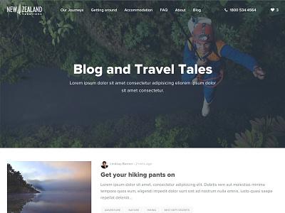 New Zealand Vacations - Blog elementapi craftcms reactjs