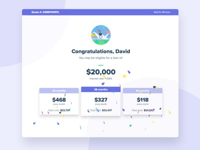 Quote Offer Screen tailwindcss vuejs nuxtjs
