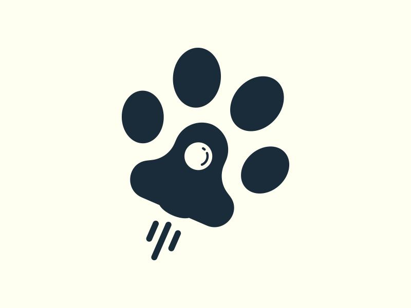 Woofboost fun minimal logo boost pet animal rocket paw dog