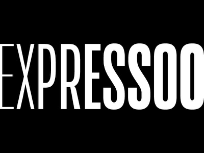 Expresso - Coffe condensed white black typeface action type logo brand