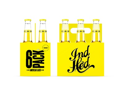 Branding and Packaging Design for IndHed® identidade visual packaging industriahed lager yellow beer package product identity design beer identity design branding graphic design packaging design beer beer packaging design beer packaging