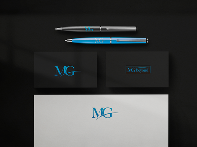 Branding for Film Company MG Beyond design studio identity design branding studio logo logotype business card stationery brand identity graphic design identity logo design film company branding