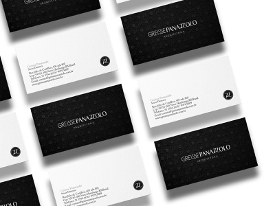 Business card design for architecture firm identity design brand identity graphic design branding company industria branding company industria branding industriahed by industria branding agency arquitetura greisse panazzolo architecture logo architect architecture business card branding