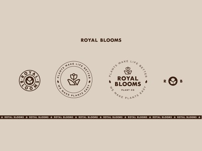 Royal Blooms Singapore branding logos icons singapore flower shop plant shop logodesign brand development brand strategy brand positioning branding agency branding design company plant logotype icon logo design studio branding design studio industria branding industria branding company branding company
