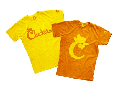 Cluckers T-Shirts branding graphicdesign logotypedesign logotype industria design industria branding branding firm brand development company restaurant branding fast food identity design fast food branding icon logo chicken logo tshirts food restaurant chicken fastfood cluckers