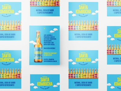 Branding and Packaging Design for Santa Kombucha brand strategy brand development creative studio industria design industria branding industria byindustria design studio logo design design branding studio packaging design identity brand identity graphic design packaging branding