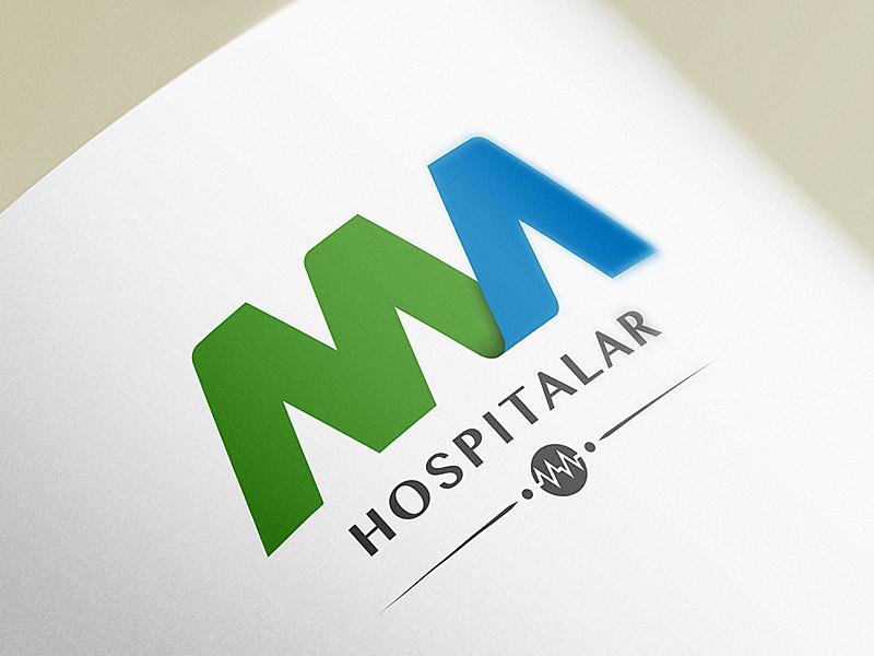 MA Hospitalar Logo industriahed industria hed ma hospitalar branding logo identity green blue health care medical hospital