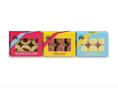 Alfajores Packaging for Cafe Diego abu dhabi brazil argentina design product design maradona diego maradona cafe diego packaging design alfajores packaging alfajor