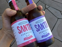 New Packaging / Santa Kombucha