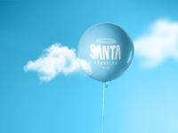 Santa Kombucha Balloon