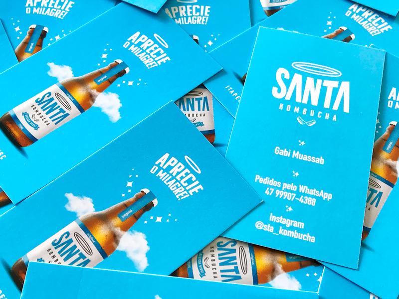 Business Cards Design / Santa Kombucha design cartão visita brand design identity design card biz card stationery card design business card branding