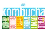 Santa Kombucha Brand Elements