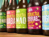 Packaging Design for Santa Kombucha