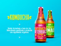 Branding and Packaging for Santa Kombucha