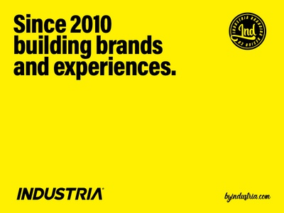 Since 2010 building brands and experiences.