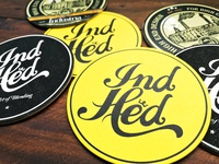 Beer coasters for IndHed