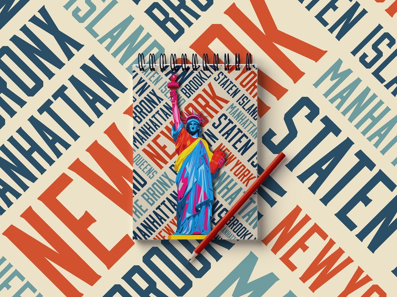 New York Feelings for Credeal design grafico graphic design design art industria design agency branding company industria branding company statue of liberty illustration nyc new york
