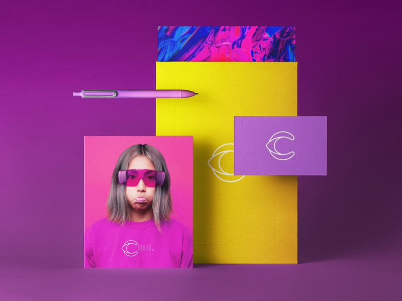 Branding and stationery for Conceitto purple brand design c icon icon design marketing agency print graphic design industria branding company branding stationery