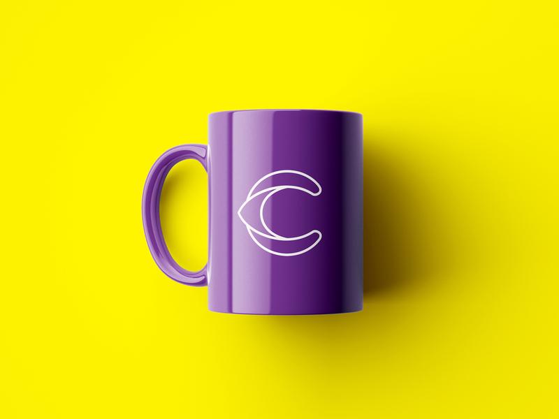 Branding for marketing agency Conceitto branding company logo design marketing agency graphic design design identity branding mug purple eye c mark logo icon industria branding company