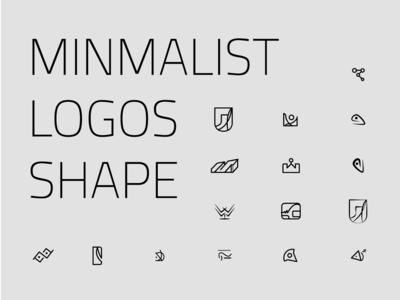 Abstract minimal logos icon shape