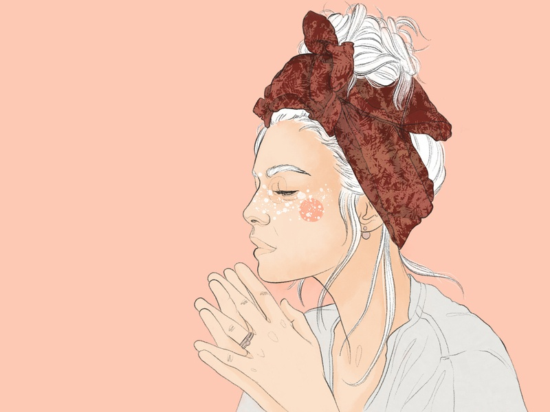 Illustration of a young woman made with Adobe Fresco illustration female young woman illustration portrait illustration magazine illustration digitalart freelance illustrator digital illustration fashion illustration editorial illustration artwork adobe fresco