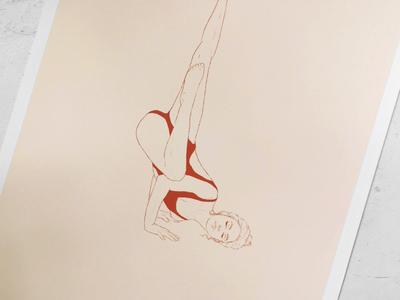 "Yoga Illustration   Asana Pose Illustration ""Fallen Angel"" book illustration body positivity brand illustration health care wellbeing sport illustration asana yoga pose artdirection freelance illustrator woman illustration artwork illustration"