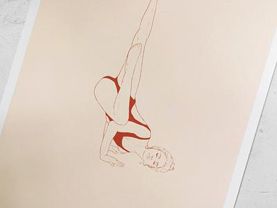 "Yoga Illustration | Asana Pose Illustration ""Fallen Angel"" book illustration body positivity brand illustration health care wellbeing sport illustration asana yoga pose artdirection freelance illustrator woman illustration artwork illustration"