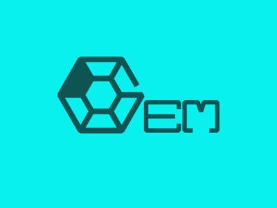 GEM typography design logo design logo