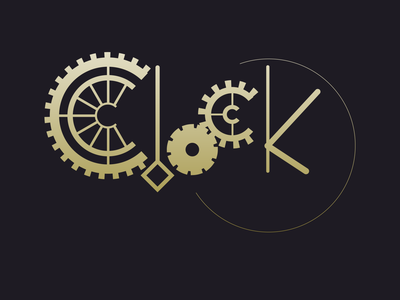 Clock design logo motion logo
