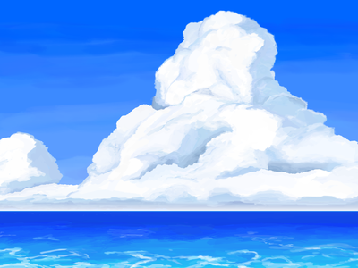 blue and sky concept art illustraion