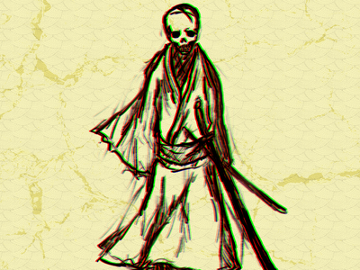 Ghost Samurai illustraion