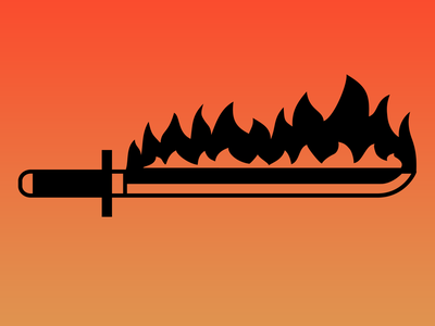 Flame Sword Icon design icon