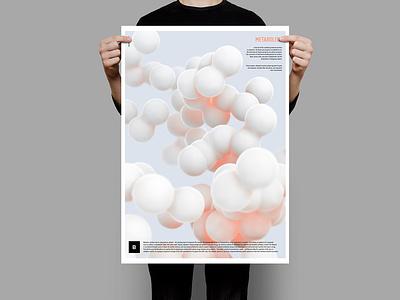 Metabolism / Poster design typographic typography render biological biology medical spheres sphere metabolism metaballs metaball