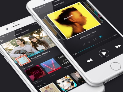 Music streaming service concept