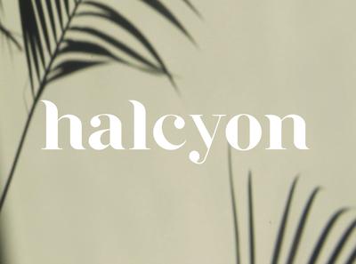 halcyon typeface