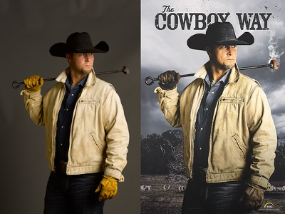 Before And After poster character art keyart effects rugged photoshop photo retouch