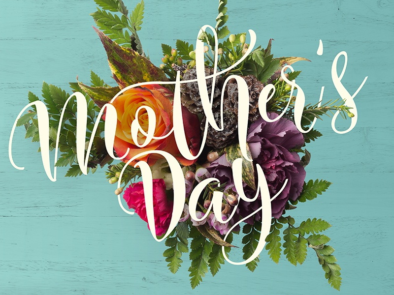 Mothers Day photoshop typography flowers mothers day