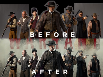 Before And After keyart retouching lighting effects lighting compositing photoshop