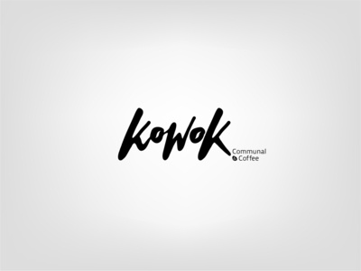 Hand-Lettering logo for Kowok Coffee