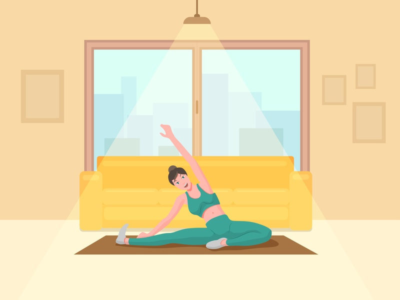 Home Workout Illustration