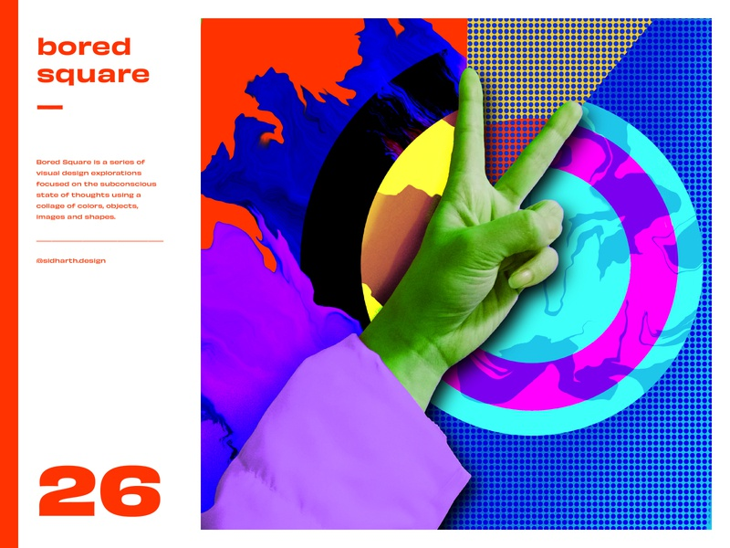 Bored Square 26 abstract hope victory inspiration design artwork procreate digital collage creative quarantine