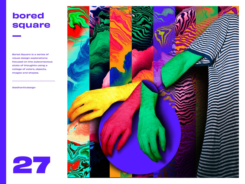 Bored Square 27 boredom series art design abstratct hands collage drawing digital artwork art ipad procreat square bored series