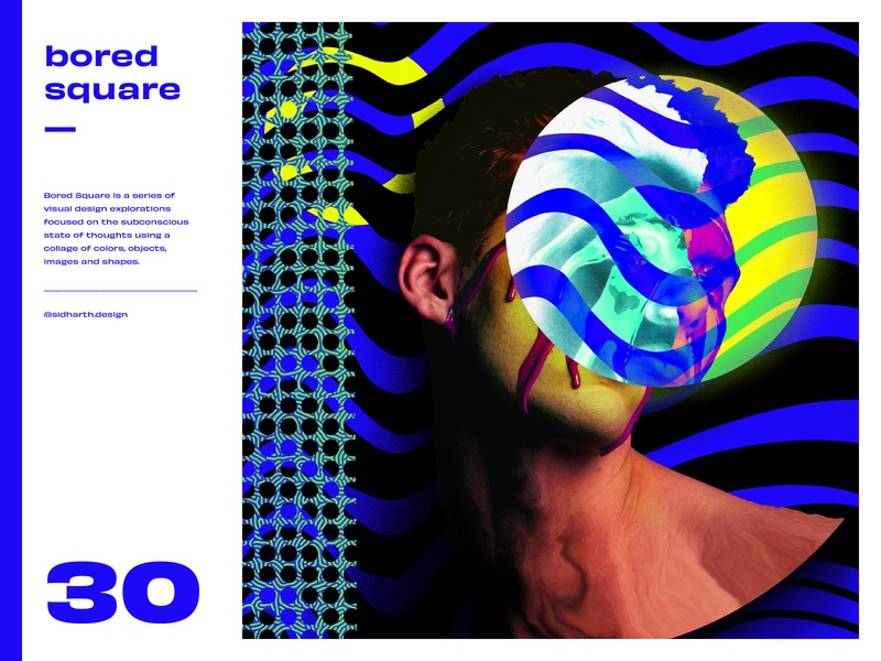 Bored Square 30 art fantasy digital artwork procreate illustration design graphic circle blue faces abstract face