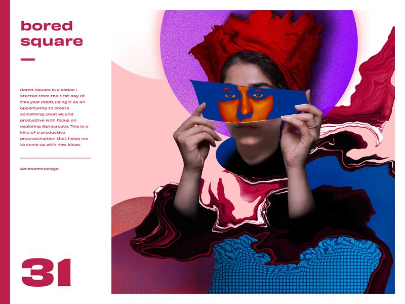 Deceptive     Square No. 31 illustration boredom design graphic artwork digital art procreate mirror female woman deceptive digital square bored