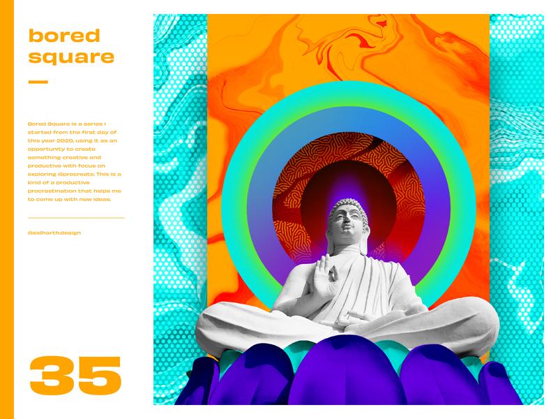 Breathe     Square 35 design procreate digital art graphic artwork digital art collage circle aura buddhist