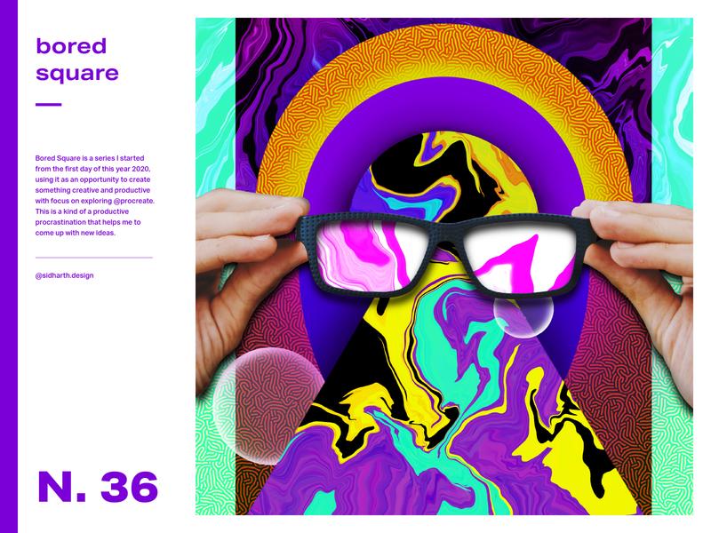 The Idealist     Square No. 36 collage liquify square graphic design digitalart specs idealist art artwork procreate digital design graphic