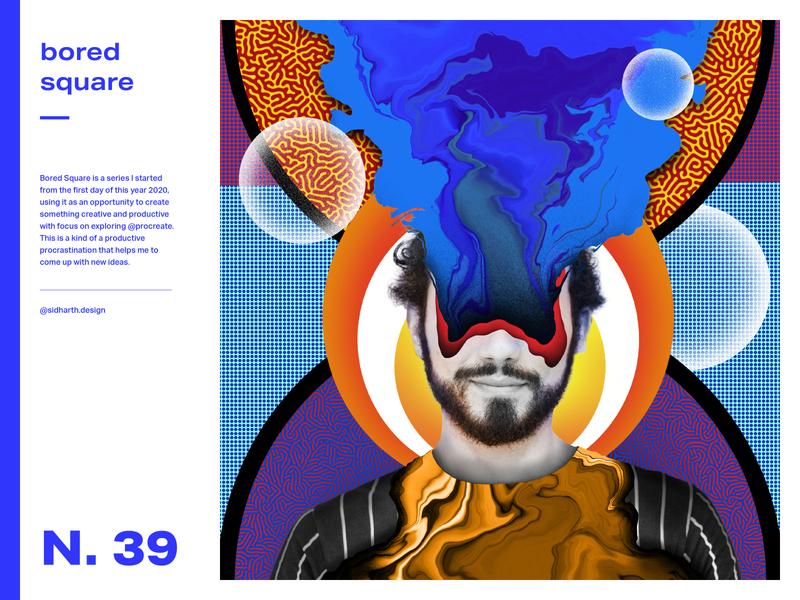 Wondering Around, Wandering Away square bored digital art graphic art artwork design graphic surreal illusion procreate digital collage